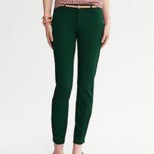 Banana Republic Sloan Fit Emerald Green Pant Sz 6